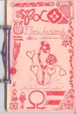flori de roua - coperta manuscris